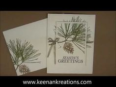 Stampin' Up! Video Tutorial Christmas Cards 2014 #5 Lovely As A Tree - YouTube