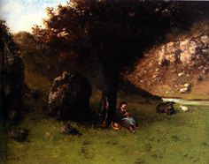 La Petite Bergere by Gustave Courbet Franz Xaver Winterhalter, Gustave Courbet, Old Master, Art School, Old Things, Artwork, Painting, Image, Collections