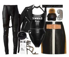 """F**K EM' UP"" by diamxo ❤ liked on Polyvore featuring Alexander Wang, Zana Bayne, Yves Saint Laurent, Valentino, Rick Owens, Chanel, LG, women's clothing, women's fashion and women"