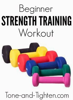 Total Body Beginner's Strength Training Workout on Tone-and-Tighten.com - this video will walk you through each exercise for a killer workout!