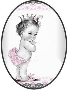 Vintage Baby Free Printable Invitations, Labels and Banners.