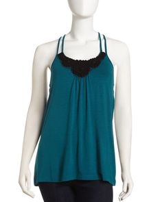 Love itFlower+Applique+Camisole,+Persian+Green+by+Design+History+at+Neiman+Marcus+Last+Call.