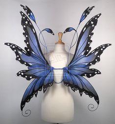 Fairy Wings in Blue Morpho Butterfly pattern by glittrrgrrl.deviantart.com on @deviantART