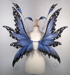 Fairy Wings in Blue Morpho Butterfly pattern by glittrrgrrl.deviantart.com on @deviantART