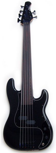 SHUKER P 5 String Bass. I would love for this to have a humbucker. So sweet, this guy makes some killer basses.