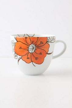 Desertbloom Mug -- my entire 'home style' pinboard is one big anthropologie catalogue.