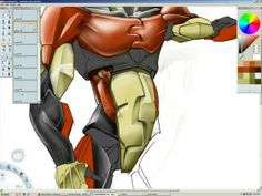 """Kyle Runciman of Runciman Concepts Speed Painting of an Iron Man concept done in SketchBook Pro Song: """"Future Daniel"""" by Clark. Art Tablet, Sketchbook Pro, Speed Paint, Iron Man, Tutorials, Concept, Drawings, Videos, Youtube"""