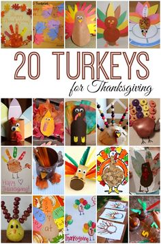20 turkey activities for kids - crafts recipes and learning from Here Come the Girls