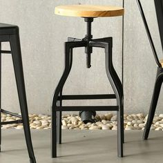 The Max Industrial Bar Stool in Matt Black can be easily mixed with rustic or more contemporary pieces to create the style you need. Perfect as a kitchen bar...
