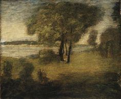 """""""The River,"""" Albert Pinkham Ryder, oil on canvas, 18 1/2 x 22 7/16"""", Los Angeles County Museum of Art."""
