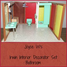 Irwin Interior Decorator Set - The Bathroom.  There are sets for each room and when put together make a full house. I'm still trying to win the other rooms, but haven only been able to win this one so far.