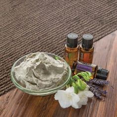 Help cleanse and nourish your skin with this easy DIY clay mask infused with essential oils.