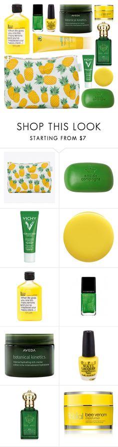 """Summer Beauty"" by untake-n ❤ liked on Polyvore featuring Rosa & Clara Designs, Sisley, Vichy, Deborah Lippmann, Arbonne, Illamasqua, Aveda, Clive Christian and Rodial"