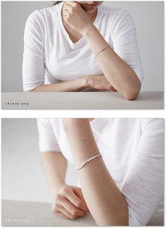 실버 바 & 볼 팔찌 Silver Bar & Ball Bracelet 실버체인팔찌 925실버팔찌 은팔찌 순은팔찌 실버바팔찌 실버볼팔찌 : 스키니팝