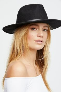 712389c1 Shop our Wythe Leather Band Felt Hat at FreePeople.com. Share style pics  with