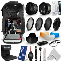 Deluxe Backpack & HD #Lens + Filter Kit for #Nikon D5200 D5100 D3300 D3200 D3100 #MagicFiber #Vivitar #CyberMondayDEALS #CyberMondayDeal #CyberMonday #SALE #DEAL #DEALS #PHOTOGRAPHY #GIFT