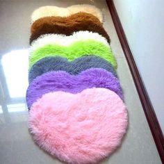 Modern Design frete grátis 40 * 50 cm da forma do coração 4.5 cm engrossar tapetes sala de tapetes tapetes capacho
