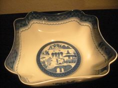 Mottahedeh Bowl Transfer Blue White Porcelain Vista Alegre Portugal