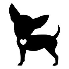 Chihuahua Love Die Cut Vinyl Decal PV1929