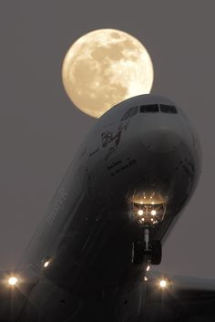 "#moonlight takeoff  | ""Virgin A340-600 Mooncrossing at Amazing LHR/Heathrow"" ~ by nustyR on flickr"