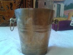 Cooler Bucket Antique Champagne Bucket French Brass by LadyDeParis, $220.00