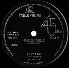 THE BEATLES Strawberry Fields/Penny Lane 67 UK SOLID-CENTRE PARLOPHONE 7 VINYL