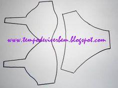 Resultado de imagem para risco de calcinha, soutien, sapato para porta lingerie