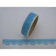 Masking Tape Häkelspitze hellblau