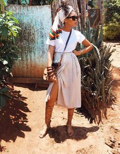 We are obsessed with South African blogger Lulama Wolf's style — click her to see and shop her look.
