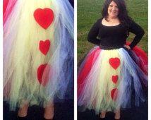 OCT 7 LAST ORDER date  Adult Queen of Hearts Tutu Halloween Costume Women's size 2-8