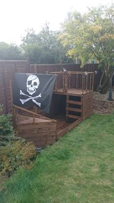 Diy kids fort outdoor pirate ships Ideas for 2019 Kids Outdoor Play, Outdoor Play Spaces, Backyard Play, Play Yard, Backyard For Kids, Backyard Projects, Outdoor Fun, Garden Kids, Outside Playhouse
