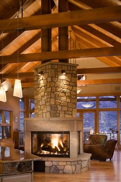 Timber Traditional - traditional - Living Room - Denver - Gerber Berend Design Build, Inc.