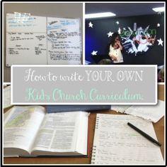 How to write your own Kids Church Curriculum