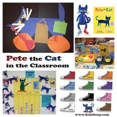 Pete the Cat Activities: Start Your School Year with Pete the Cat! Great blog article about how she incorporates Pete the Cat in her classroom.