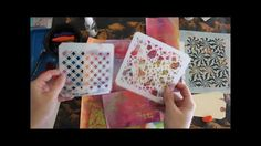 Use your stencils as a surface for making rubbings- and then layer with watercolors or sprays to make mixed-media backgrounds for ATC's, tags, bookpages and ...