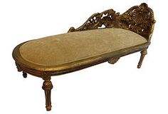 French-Style Carved Chaise