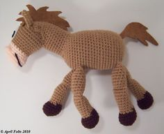 Cute horse to crochet - free pattern - it's the horse from Toy Story!.