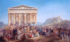 Peter von Hess - Der Empfang König Ottos von Griechenland in Athen