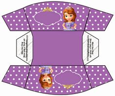 Sofia the First: Free Printable Boxes.