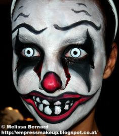 Killer Clown Face Paint | here is the link, in case it doesn't show correctly)