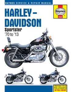 Haynes M2534 Repair Manual for 1970-13 Harley-Davidson Sportsters XL / XLH / XLCH / XLS / XLX With 883/1000/1100