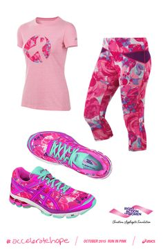 Shop ASICS #gear and #shoes to #run in pink during the month of October to…