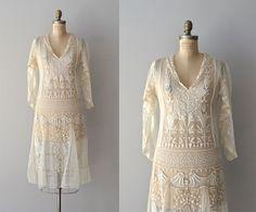 Gypsophila embroidered dress / vintage 1920s dress / by DearGolden, $635.00