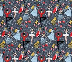 Clara's Nutcracker Ballet_Med fabric by robinpickens on Spoonflower - custom fabric
