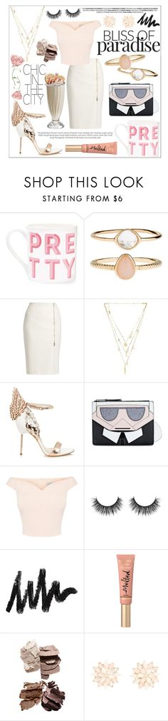 """""""hit me with your punch-drunk love 🍸"""" by sabbbycat ❤ liked on Polyvore featuring Gary Birks Design, Accessorize, MaxMara, Ettika, Sophia Webster, Karl Lagerfeld, Too Faced Cosmetics and Charlotte Russe"""