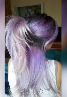 Fashion colors with Long Hair - Half ponytail
