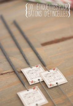 jolies étiquettes à imprimer pour bâtonnets étincelles