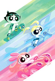Powerpuff Girls 2016 Cover on Behance