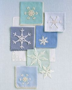 One of nature's best decorating ideas is the snowflake: It adds sparkle to upturned eyelashes and embellishment to bare tree branches. With crocheted versions of this seasonal icon, you can bring its frosty filigree indoors.