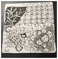 Zentangle, Le Club, Playing Cards, Doodle, Board, Zentangle Patterns, Playing Card Games, Zentangles, Game Cards